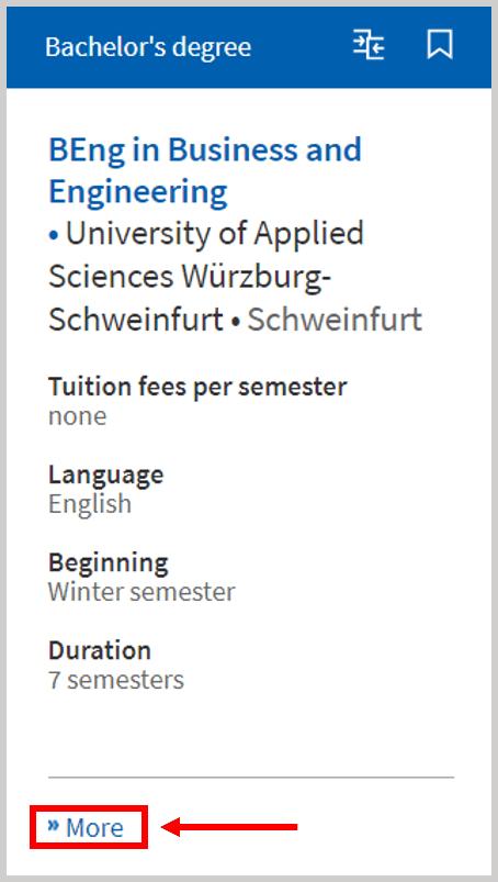 University Program in German