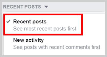 Facebook Recent Post