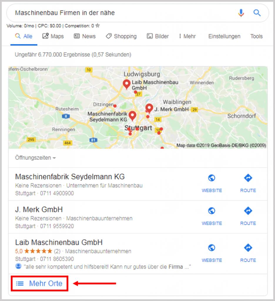 Google near me hack