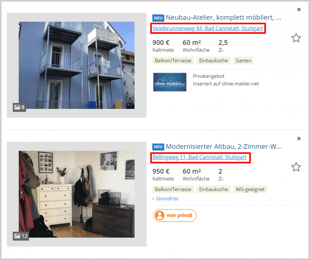 Immobilienscout24 Offers
