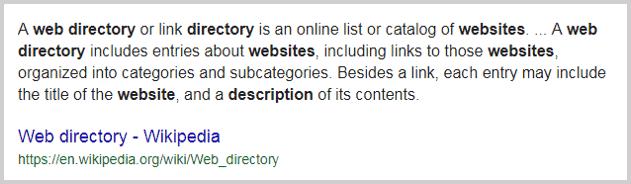 Wikipedia Web Directory